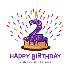 second birthday vector image