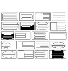 set of different school notebook labels vector image