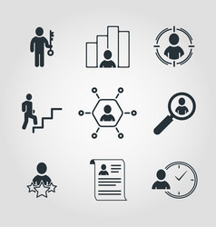simple set of business icons contains such icons vector image