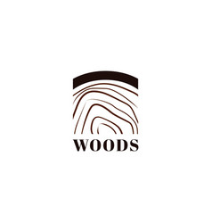 simple woods logo icon symbol vector image