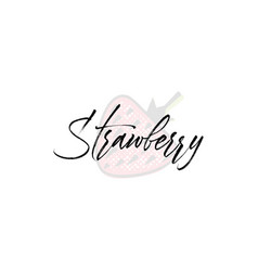 strawberry word on background fruit vector image