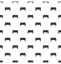 Street bench pattern simple style vector