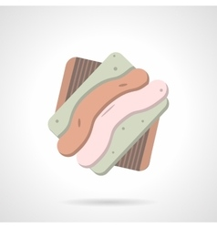 Tasty cookie flat color icon vector image