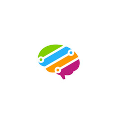 tech brain logo icon design vector image