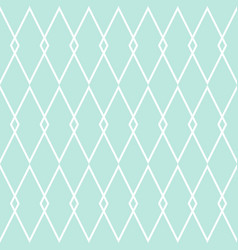 Tile pattern or mint green and white background vector