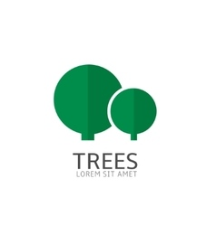 Trees logo template vector image