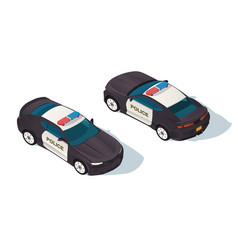 urban modern sedan police car for protection vector image