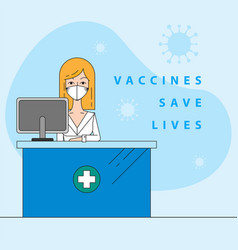 vaccine saves lives vector image