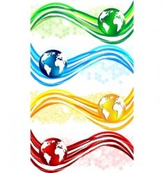 wavy banners vector image