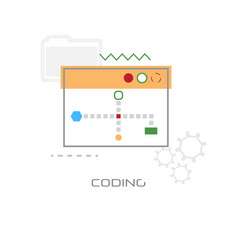 web graphic design application development coding vector image