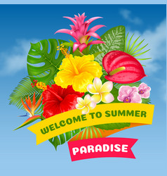 Welcome to summer paradise vector