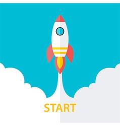 Flat stylized start up vector image