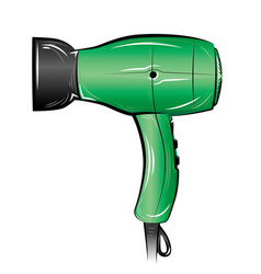 hair dryer isolated on white background vector image