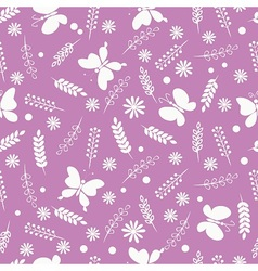 Summer meadow pattern vector image vector image