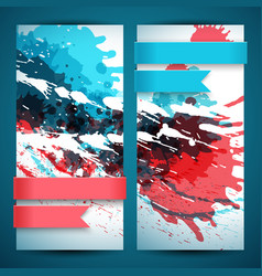 two abstract artistic banner set vector image vector image