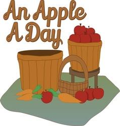 Apple a day vector