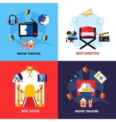 Cinema Design Concept Set vector image