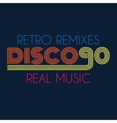 disco 90 typography t-shirt graphics vector image