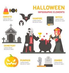 Halloween festival flat design infographic vector