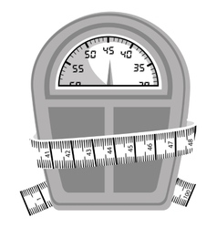 measuring tape and icon image vector image vector image