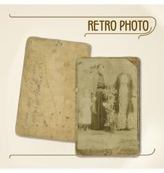 Retro photo vector image vector image