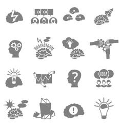 Brainstorm Flat Icons Set vector image vector image