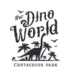 Dino world logo template Dinosaur park logotype vector image vector image
