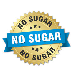 no sugar round isolated gold badge vector image