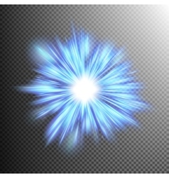 Realistic sun burst with flare EPS 10 vector image