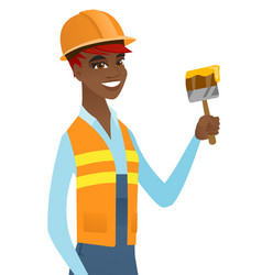african-american house painter with brush vector image