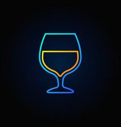 cognac glass blue icon vector image