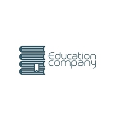 Education company icon with pile of books vector image vector image