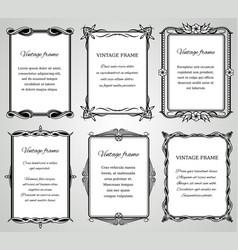 retro classic borders and calligraphic old wedding vector image