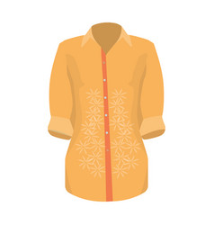 stylish orange shirt for women women dressed in vector image