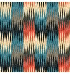 triangular waves geometric ornament vector image