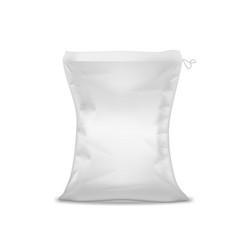 3d white sack for rice salt sugar or sand vector