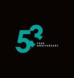 53 years anniversary template design vector