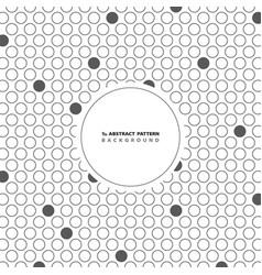 abstract circle gray dot pattern background vector image