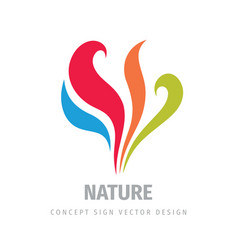 Abstract leaves and petals - concept logo design vector
