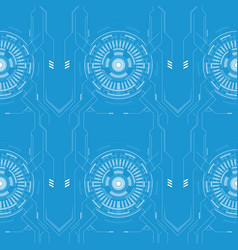 abstract techno line pattern vector image