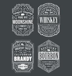 Alcohole labels set vector