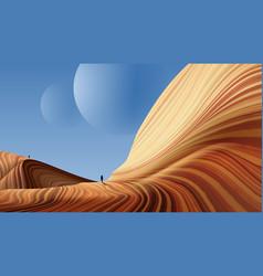antelope canyon art vector image