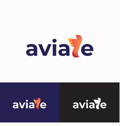 aviate abstract sign symbol or logo template vector image