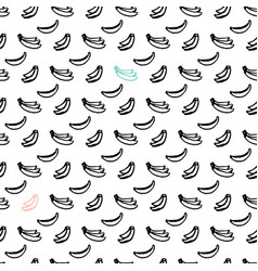 banana brush seamless pattern vector image