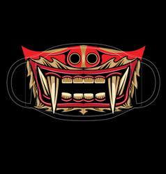 barong face mask vector image