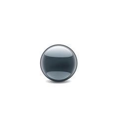 black sticker on white background vector image