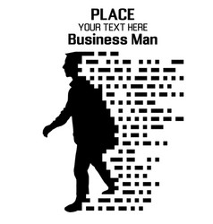 business man particle divergent composition vector image