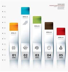 business step paper data and numbers vector image