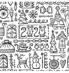 christmas background sketch for your design vector image