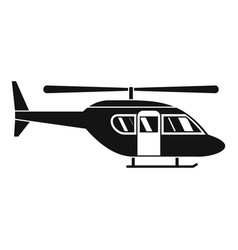 City helicopter icon simple style vector